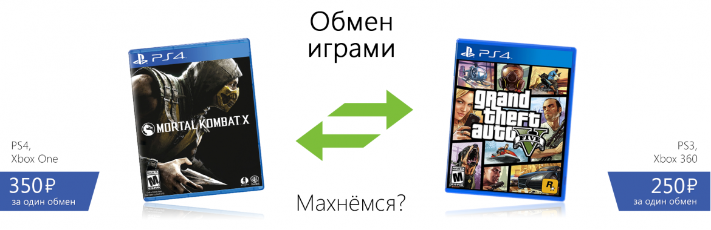 Обмен игр
