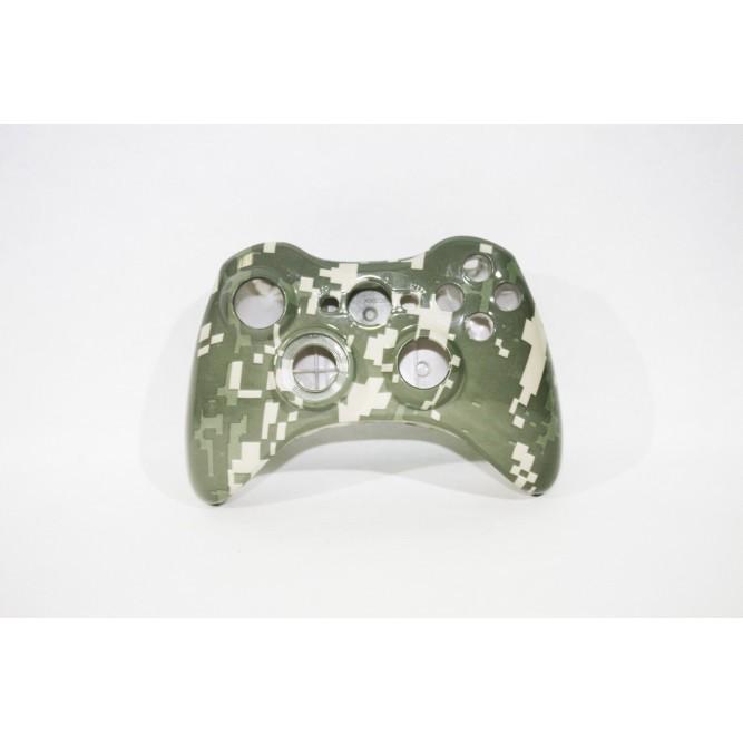 Корпус для геймпада Xbox 360 (зелено-бежевый камуфляж)