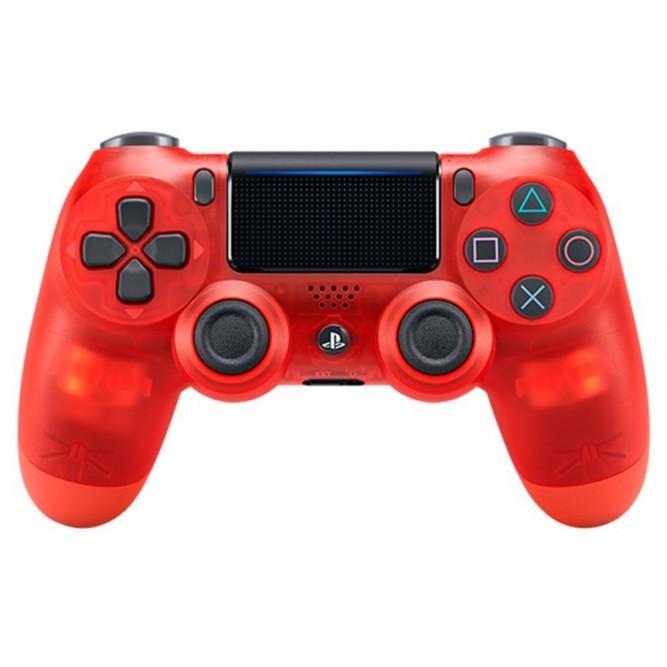 Геймпад Sony Dualshock 4 (PS4) V2 Crystal Red (Прозрачный красный)