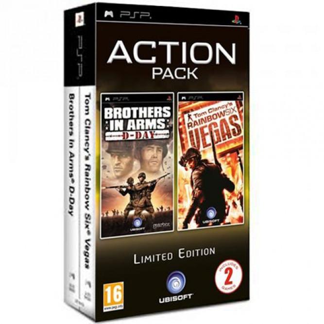 Сборник Action Pack: Игра Brothers in Arms: D-Day + игра Tom Clancy's Rainbow Six: Vegas (PSP) б/у (eng)