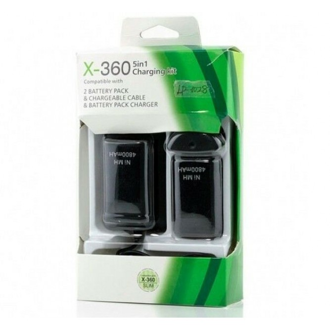 Зарядная станция Play and Charge Kit + 2 Battery Pack Charger (Xbox 360) (Китай)