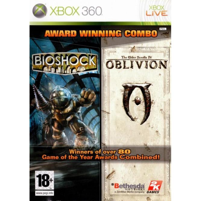 Комплект игр Bioshock & The Elder Scrolls IV: Oblivion (Xbox 360) б/у