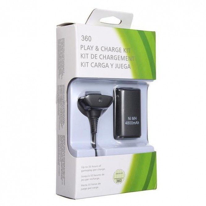 Зарядное устройство Play and Charge Kit + Battery Pack Charger (Xbox 360) (Китай)