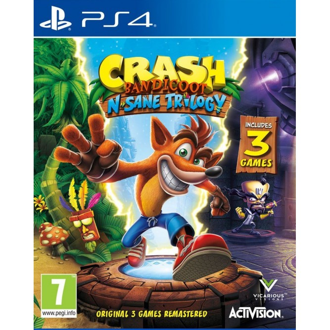 Игра Crash Bandicoot N. Sane Trilogy (PS4) б/у (eng)