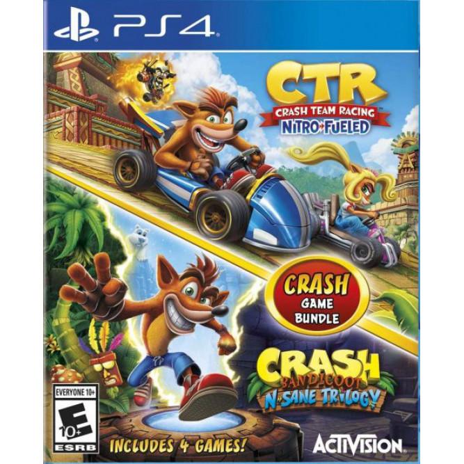 Игра Crash Bandicoot N. Sane Trilogy & Team Racing Nitro-Fueled (PS4) (eng)