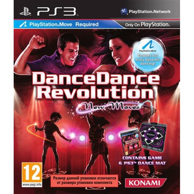 Игра Dance Dance Revolution New Moves + Танцевальный коврик Dance Mat (PS3) (eng) б/у