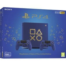 Приставка Sony PlayStation 4 Slim (500 Gb). Days of Play Limited Edition (2 геймпада)