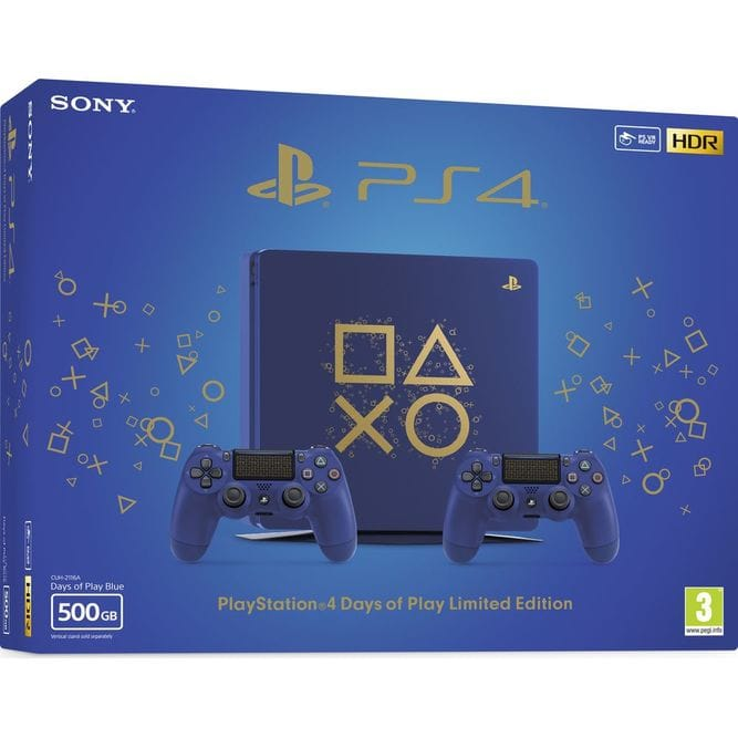 Приставка Sony PlayStation 4 Slim (500 Гб). Days of Play Limited Edition (2 геймпада)