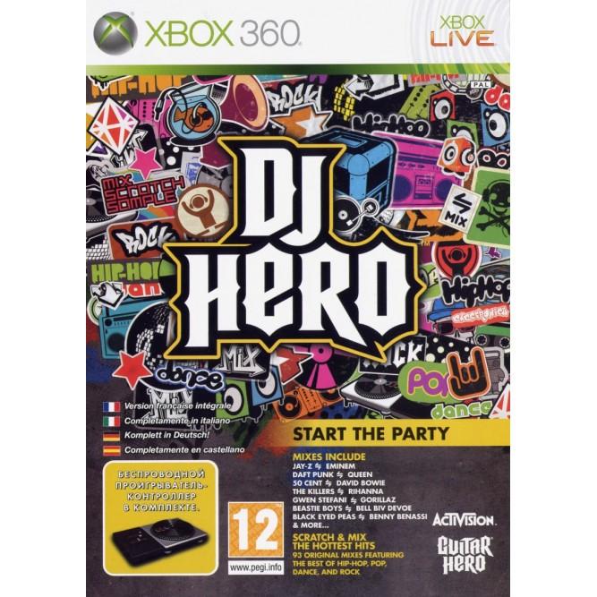 Игра DJ Hero (Xbox 360) б/у