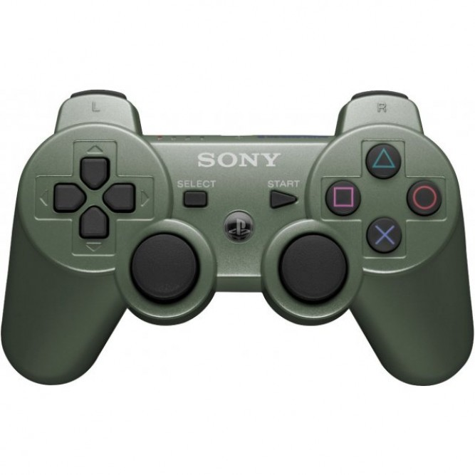 Геймпад Sony DualShock 3 (PS3) (Аналог) Зелёный