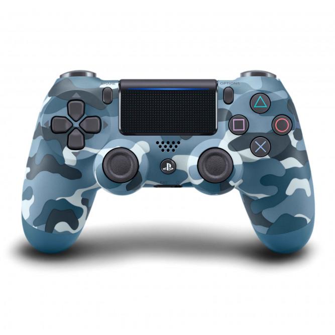 Геймпад Sony Dualshock 4 (PS4) V2 (Синий камуфляж) б/у
