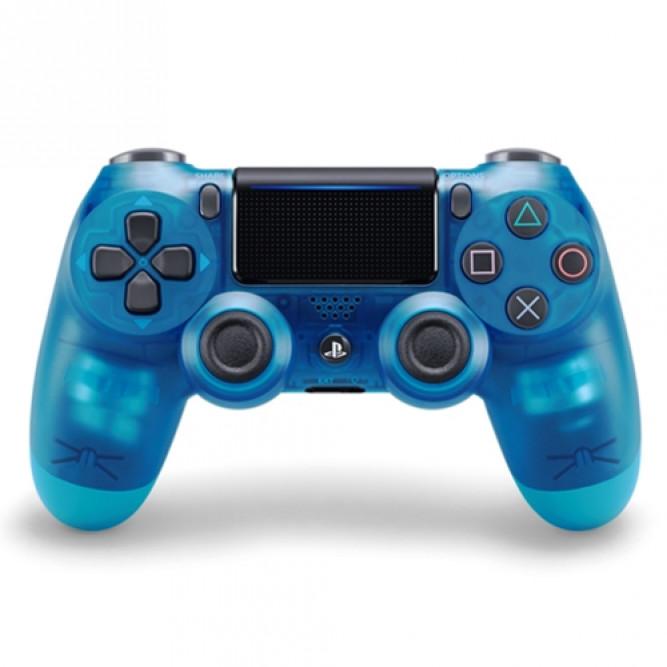 Геймпад Sony Dualshock 4 (PS4) V2, Прозрачный Синий (Аналог)
