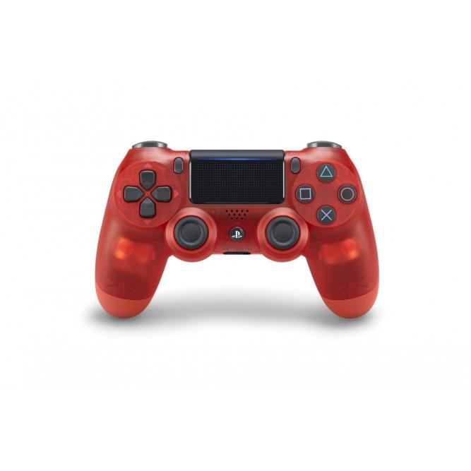 Геймпад Sony DualShock 4 (PS4) V2, Прозрачный красный (аналог)