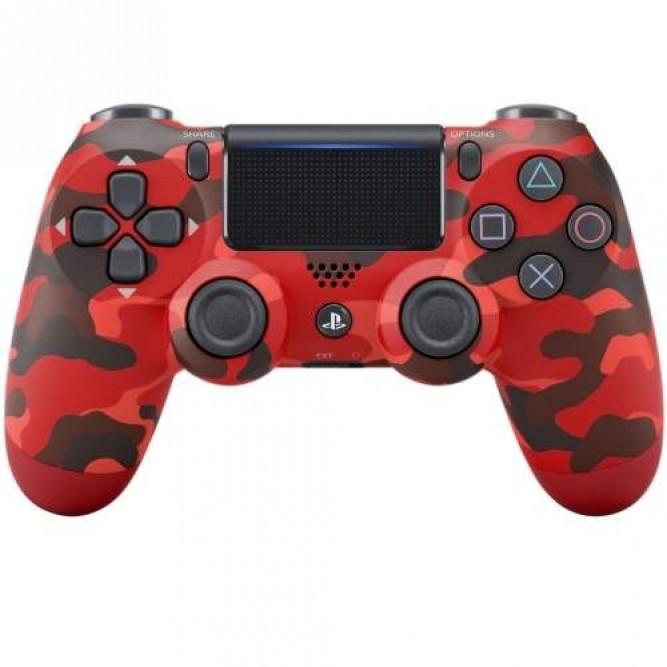Геймпад Sony Dualshock 4 (PS4) V2 (Красный камуфляж) б/у