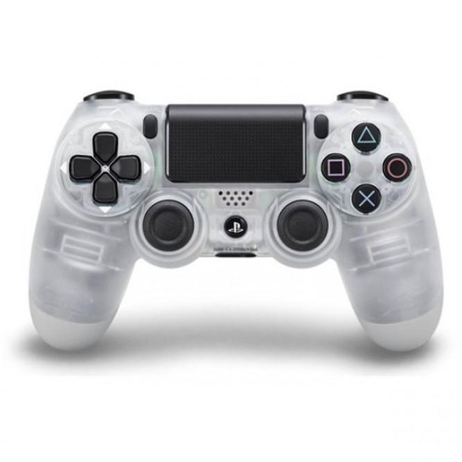 Геймпад Sony Dualshock 4 (PS4) V2, Прозрачный Белый (Аналог)