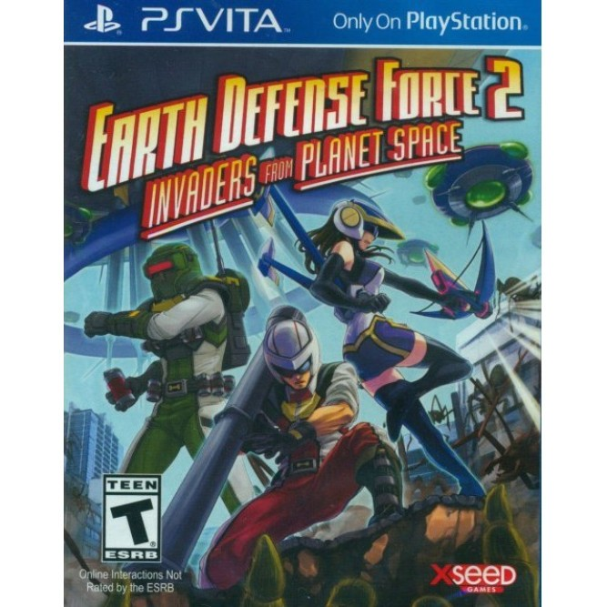 Игра Earth Defense Force 2: Invaders from Planet Space (PS Vita) б/у (eng)