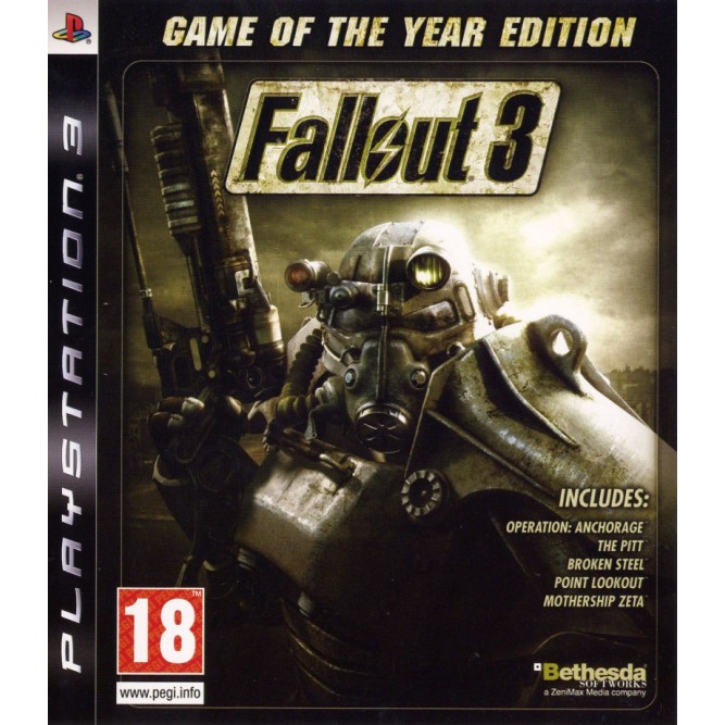 Игра Fallout 3: Game of the Year Edition (PS3) б/у