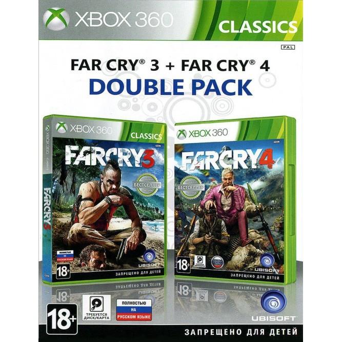 Игра Far Cry 3 + Far Cry 4 (Xbox 360) б/у