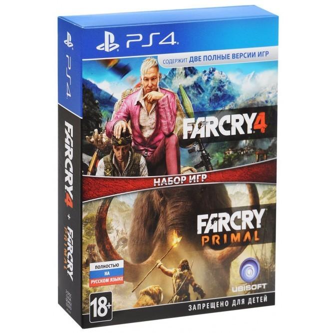 Набор игр Far Cry 4 + Far Cry Primal (PS4) б/у