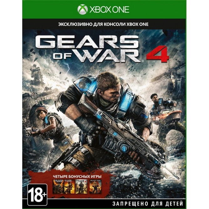 Игра Gears of War 4 (Xbox One) (rus sub) б/у