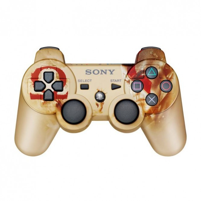 Геймпад Sony Dualshock 3 (PS3) God of War б/у