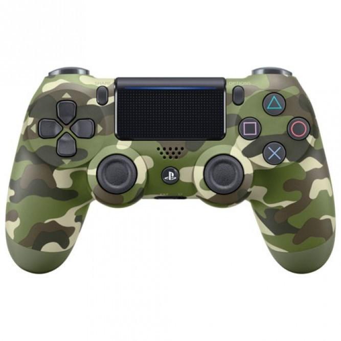 Геймпад Sony Dualshock 4 (PS4) V2, Зеленый камуфляж (аналог)