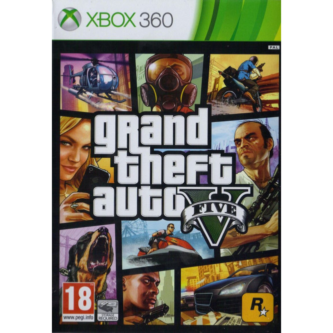 Игра Grand Theft Auto V (Steelbook) (GTA 5) (Xbox 360) (eng) б/у