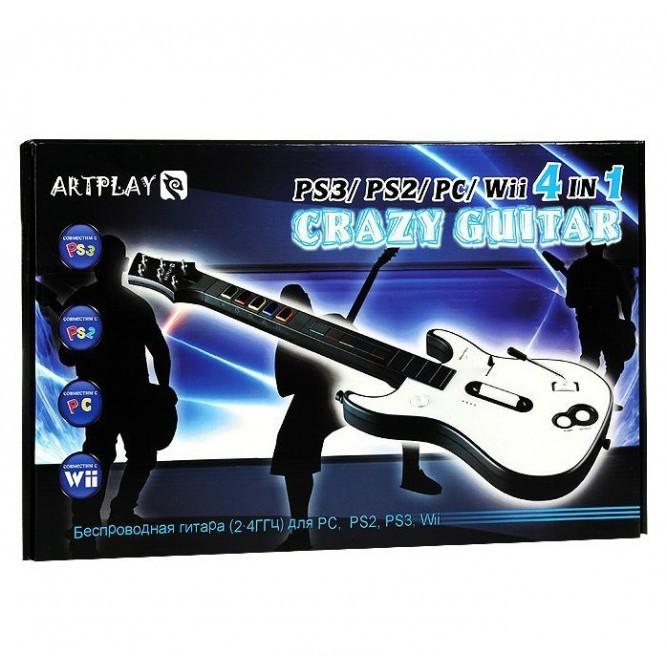 Беспроводная гитара Artplays Crazy Guitar для PS3/PS2/Wii/PC (б/у)