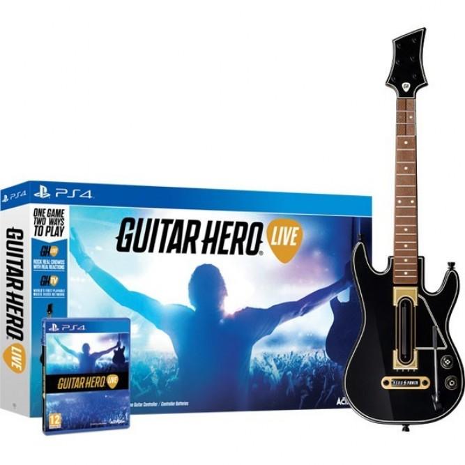 Игра Guitar Hero Live + Гитара (PS4) б/у