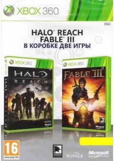 Игра Halo: Reach + Fable III (две игры в упаковке) (Xbox 360) (б/у)