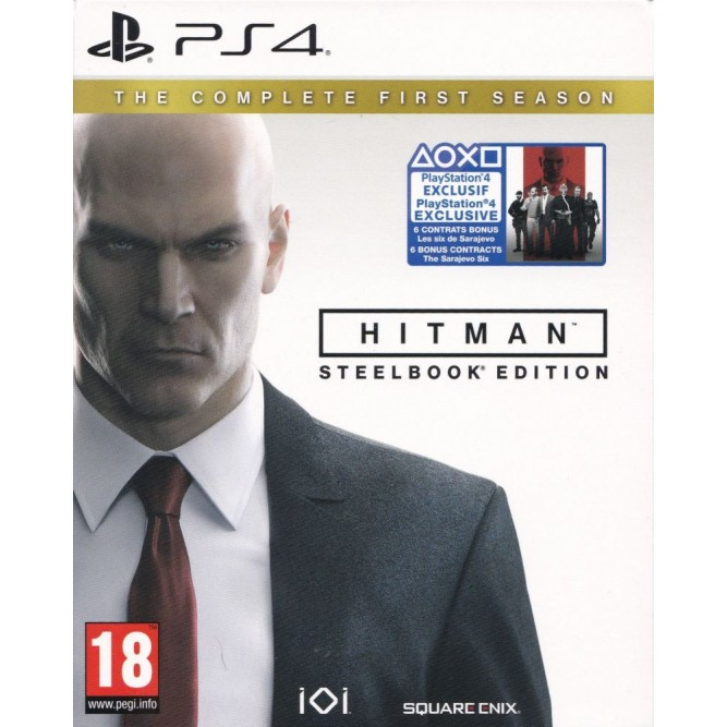 Игра Hitman. Полный первый сезон (Steelbook Edition) (PS4) б/у