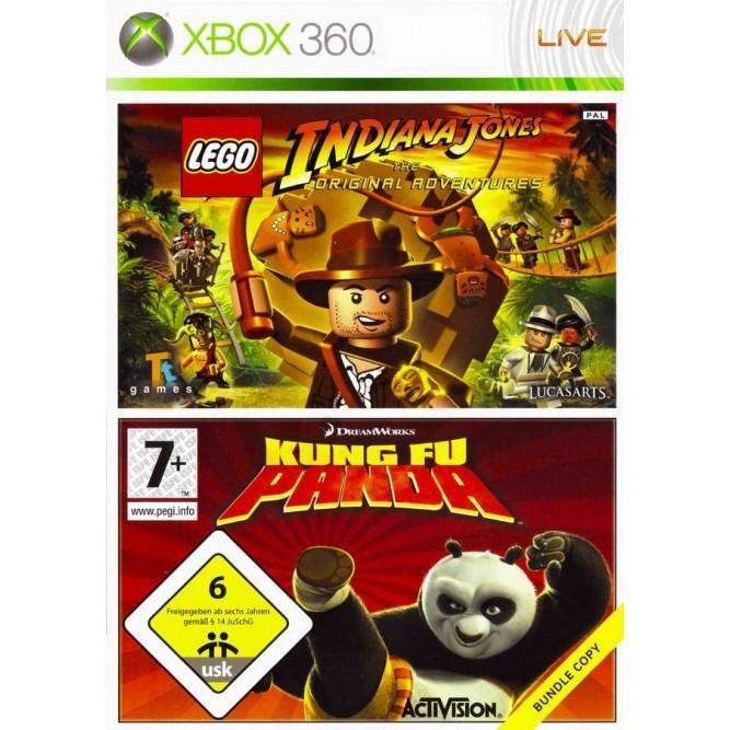 Комплект игр LEGO Indiana Jones + Kung Fu Panda (Xbox 360) б/у