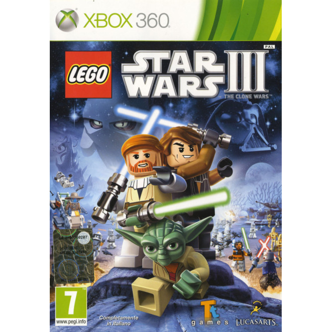 Игра LEGO Star Wars 3: The Clone Wars (Xbox 360) б/у