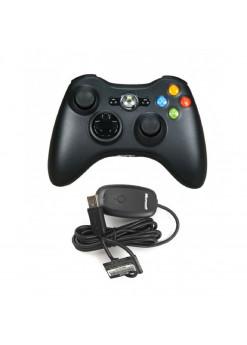 Геймпад Microsoft Controller, беспроводной + Ресивер (Xbox 360)