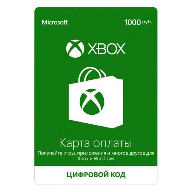 Карта оплаты Xbox Live (1000 рублей)
