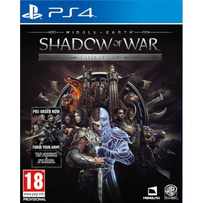 Игра Middle-Earth: Shadow Of War. Silver Edition (Средиземье: Тени Войны) (PS4) б/у (rus sub)