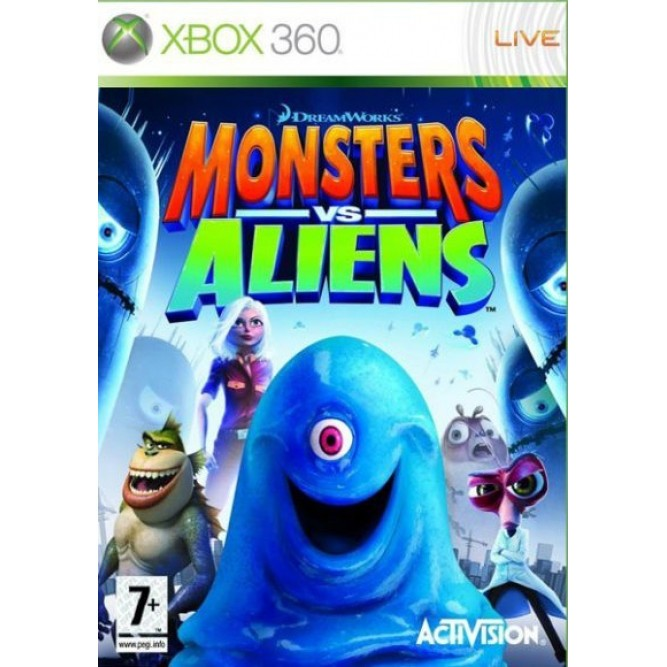Игра Monsters vs Aliens (Xbox 360) б/у