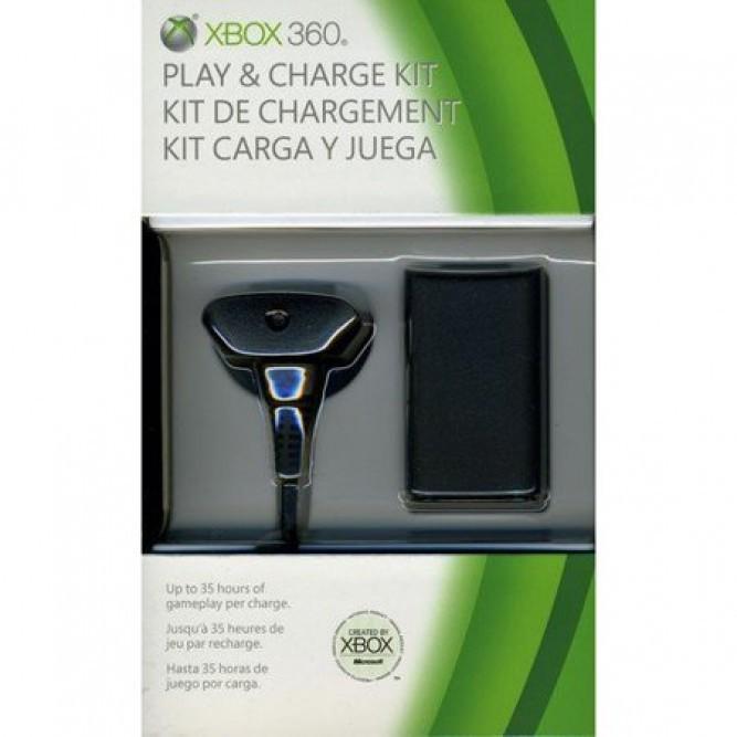 Зарядное устройство Play and Charge Kit (Xbox 360) (аналог, Китай)