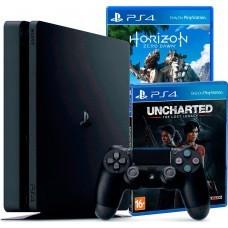 Приставка Sony PlayStation 4 Slim 1Тб + Horizon Zero Dawn + Uncharted Утраченное Наследие