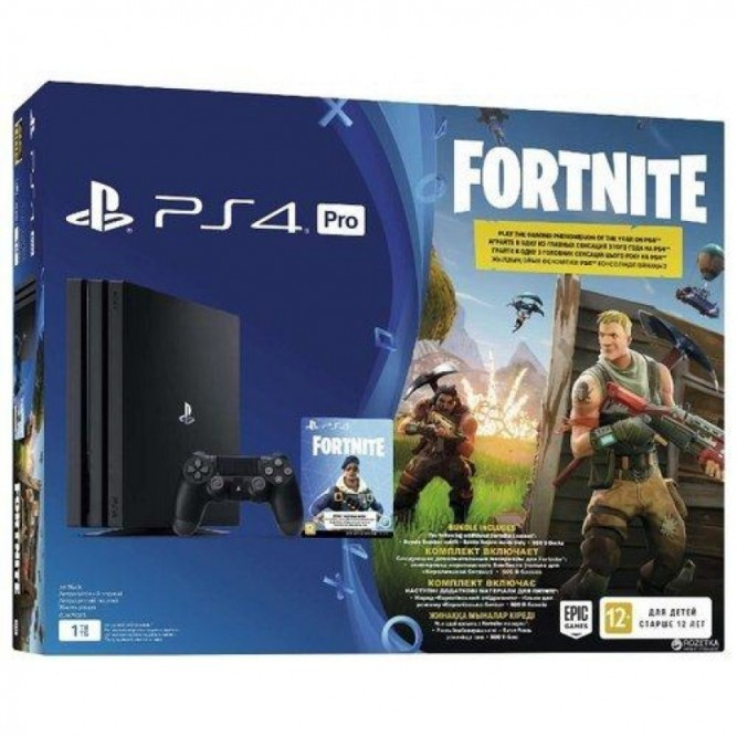 Приставка Sony PlayStation 4 Pro (1 Тб) + Fortnite