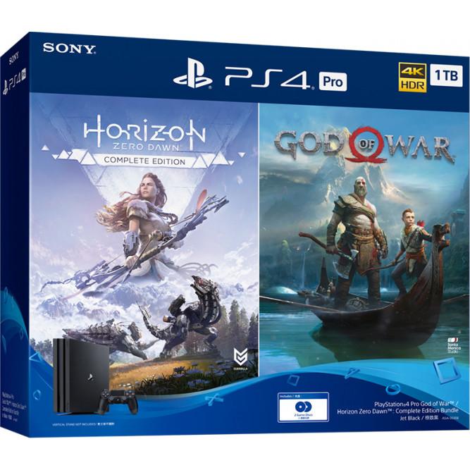 Игровая приставка Sony PlayStation 4 Pro (1 Тб) + God of War + Horizon Zero Dawn: Complete Edition