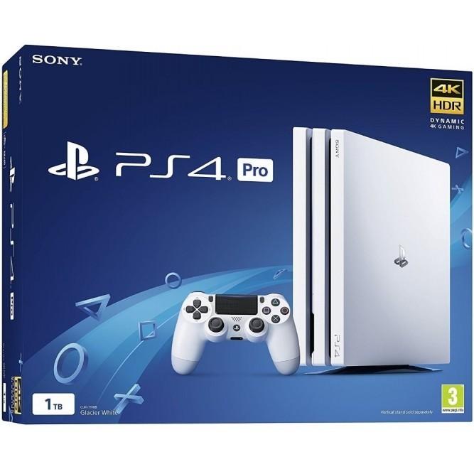 Приставка Sony PlayStation 4 Pro (1 Тб) белая, б/у