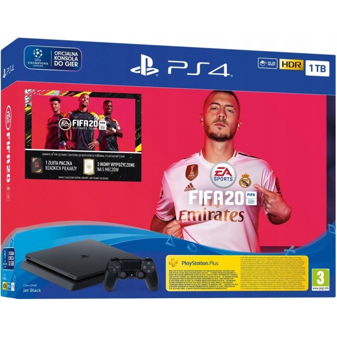 Приставка Sony PlayStation 4 Slim (1 Тб) + FIFA 20