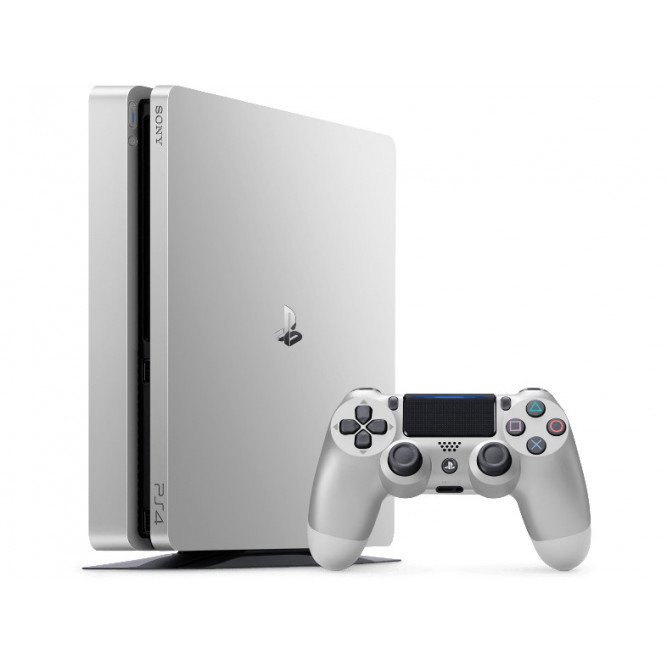 Приставка Sony PlayStation 4 Slim (Серебряная) (500 Гб) б/у