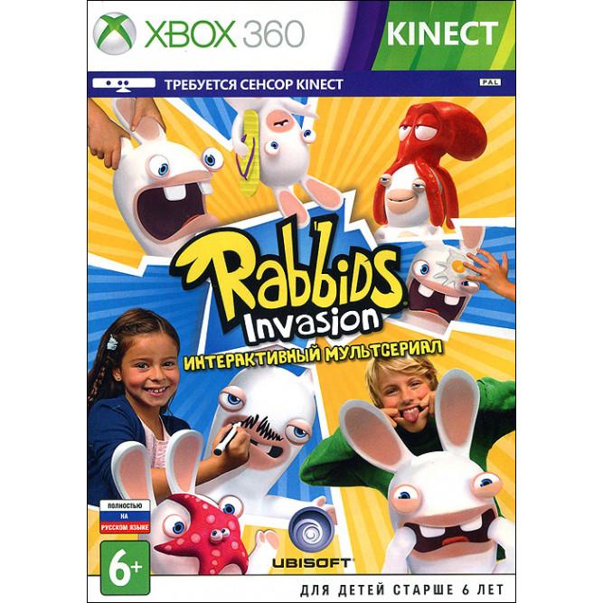 Игра Rabbids Invasion - Интерактивный Мультсериал (Только для Kinect) (Xbox 360) (rus) б/у