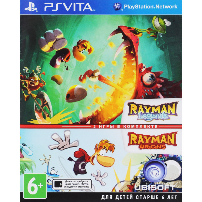 Игра Rayman Legends + Rayman Origins (PS Vita) б/у