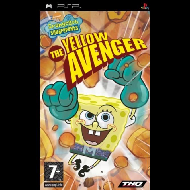 Игра Губка Боб Квадратные Штаны: Желтый Мститель (PSP) б/у