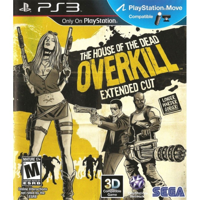 Игра The House Of The Dead: Overkill - Extended Cut (Поддержка PS Move) (PS3) б/у (rus)