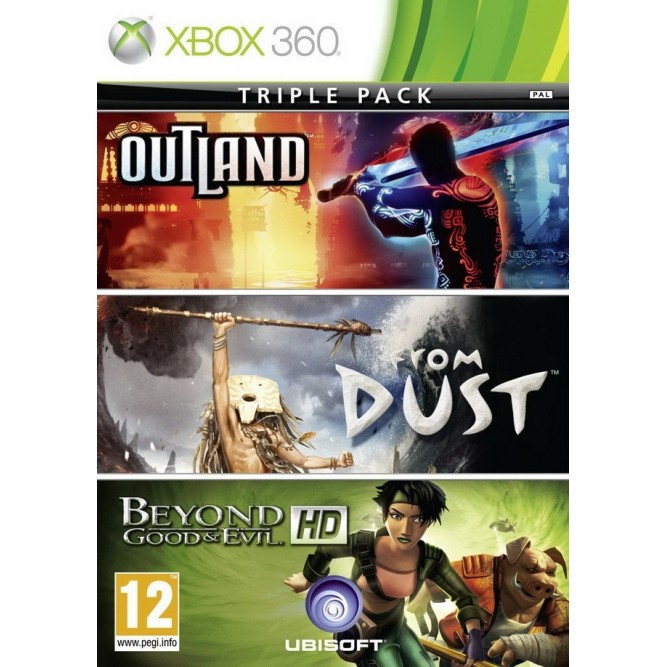 Игра Triple Pack: OutLand, From Dust, Beyond Good and Evil HD (Xbox 360) б/у (rus)
