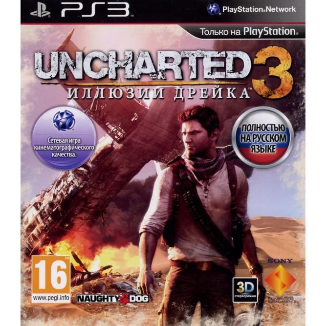 Игра Uncharted 3: Иллюзии Дрейка (PS3) б/у